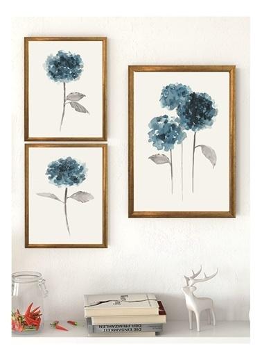 Lyn Home & Decor Mint Çerçeveli Poster 3 Lü Tablo 1 Adet 23,5X33,5 2 Adet 17,5X23,5 Sarı